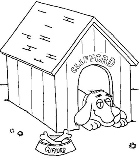 little red dog house dog house coloring page coloring home
