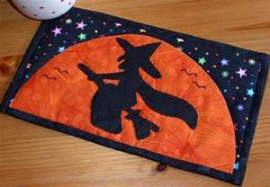 halloween witch mug rug by the patchsmith quilting pattern