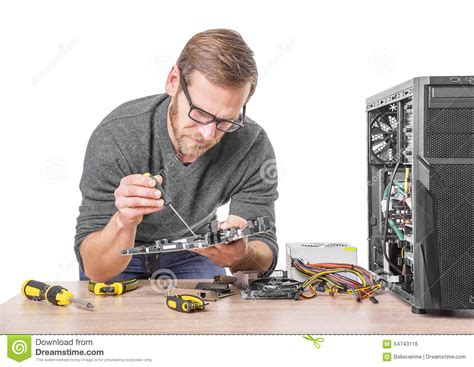 repair of computer stock photo image 64743116