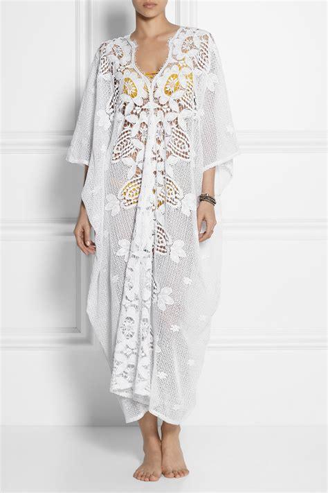 Kaftan Lace lyst miguelina crocheted cotton lace kaftan in white
