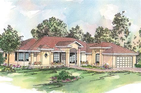 spanish inspired house design spanish style house plans richmond 11 048 associated designs