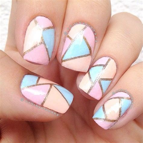 geometric pattern nail art 42 most beautiful geometric nail art design ideas