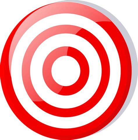 Sasaran Tembak Shooting Target Paper Circle kostenlose vektorgrafik ziel bull s eye rot wei 223