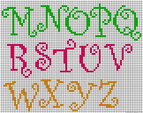 beaded letters pattern alphabet m z perler bead pattern stuff i