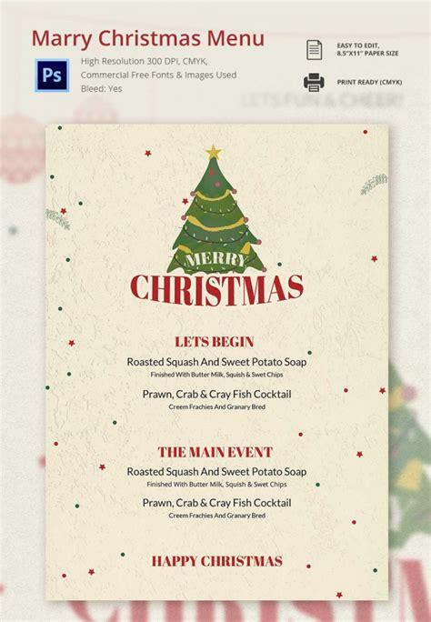 35 christmas menu template free sle exle format