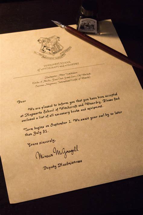 Handmade Hogwarts Acceptance Letter handwritten custom harry potter hogwarts acceptance letter