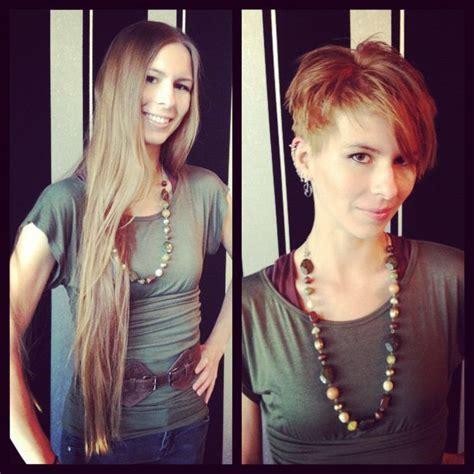 her shortest haircut ever 36 best long hair vs short hair images on pinterest