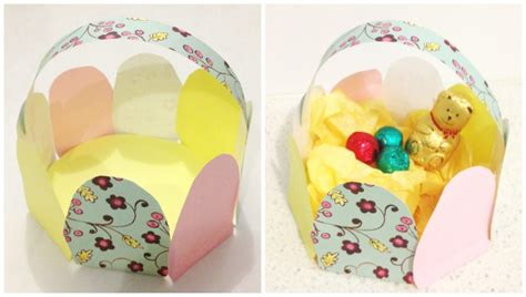 Easter Egg Paper Crafts - easter craft paper easter egg basket be a