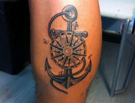 compass tattoo calf 48 best anchor compass tattoos