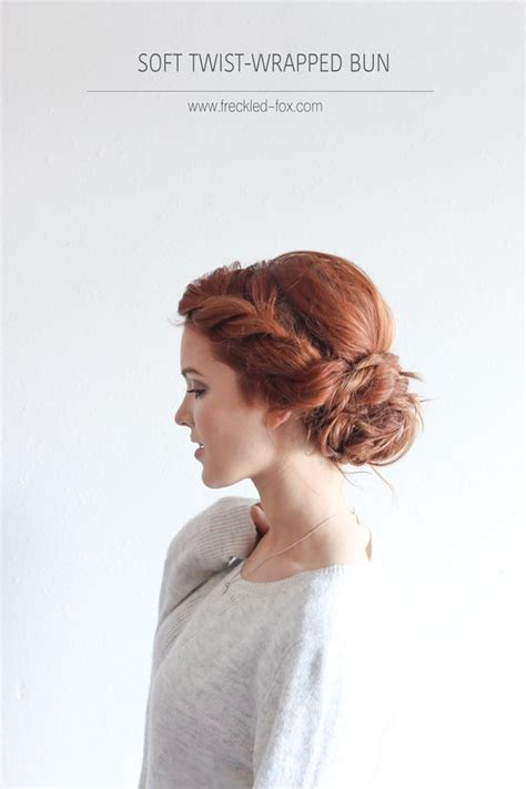Wedding Hair Bun Wraps Uk by The Soft Twist Wrapped Bun Hairstyle The Freckled Fox