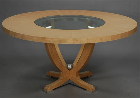Dining Table With Glass Insert Custom Urn Dining Table With Center Glass Insert By Weitzman Furniture Inc Custommade