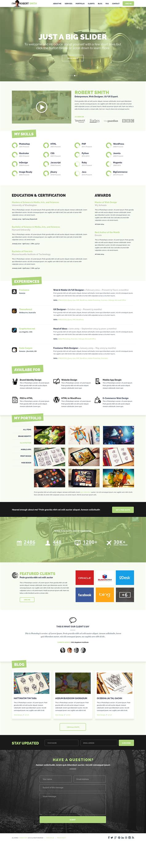 5 Free Extremely Professional Resume Templates Collection 2014 A Graphic World Resume Website Template