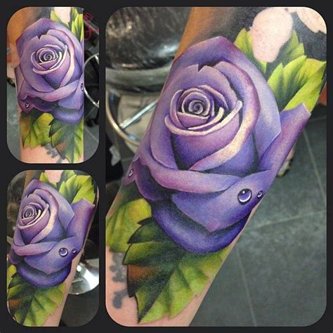 purple and blue rose tattoo best 25 purple tattoos ideas on purple