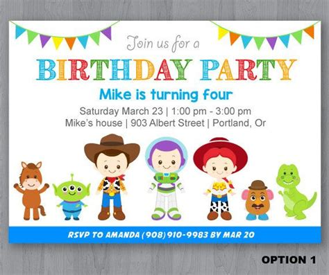 Best 25 Toy Story Invitations Ideas On Pinterest Toy Story Party Toy Story Buzz And Toy Story Invitation Template Free