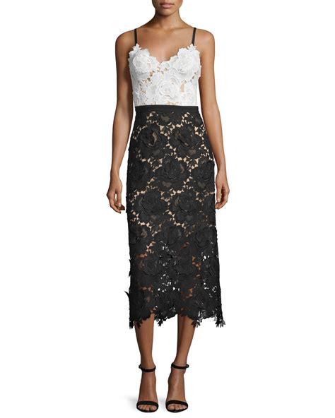 Lace Midi Cocktail Dress lyst catherine deane sleeveless sweetheart lace midi