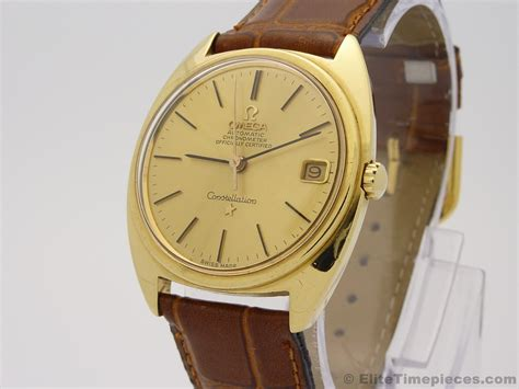 omega constellation solid 18k gold automatic mens