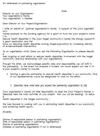 Support Letter For Community Project 10 letter of support sles to support projects or