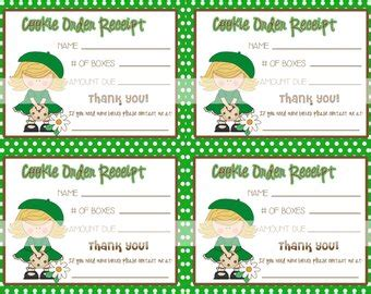 scout cookie sales receipt template popular items for cookie sale on etsy