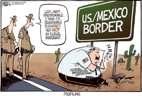 political cartoon about illegal immigration 2 cartoons immigration
