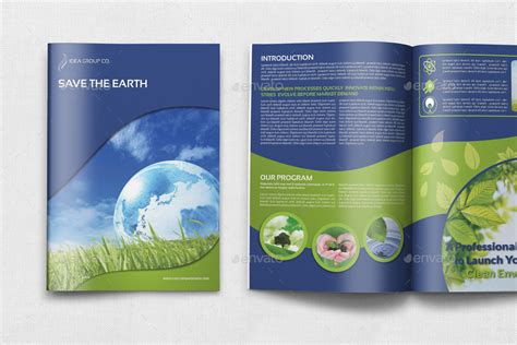 Environment Eco Brochure Bundle Template By Owpictures Graphicriver Environment Brochure Template