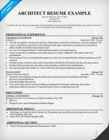 Architect Resume Format Pics Photos Architect Resume Template