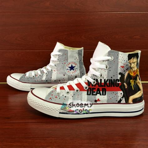 mens converse shoes the walking dead painted canvas