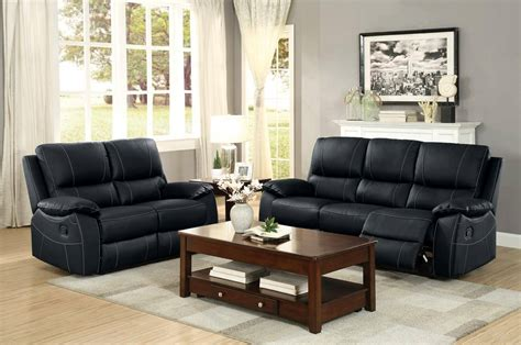 homelegance blk greeley top grain leather double reclining sofa set pcs blk