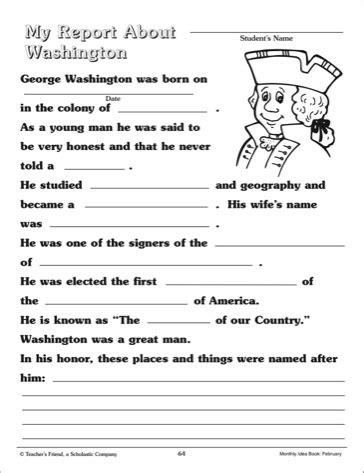 george washington biography for middle school students george washington worksheets google search summer