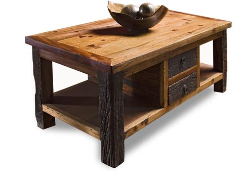 reclaimed lodge cabin rustic coffee table kathy kuo