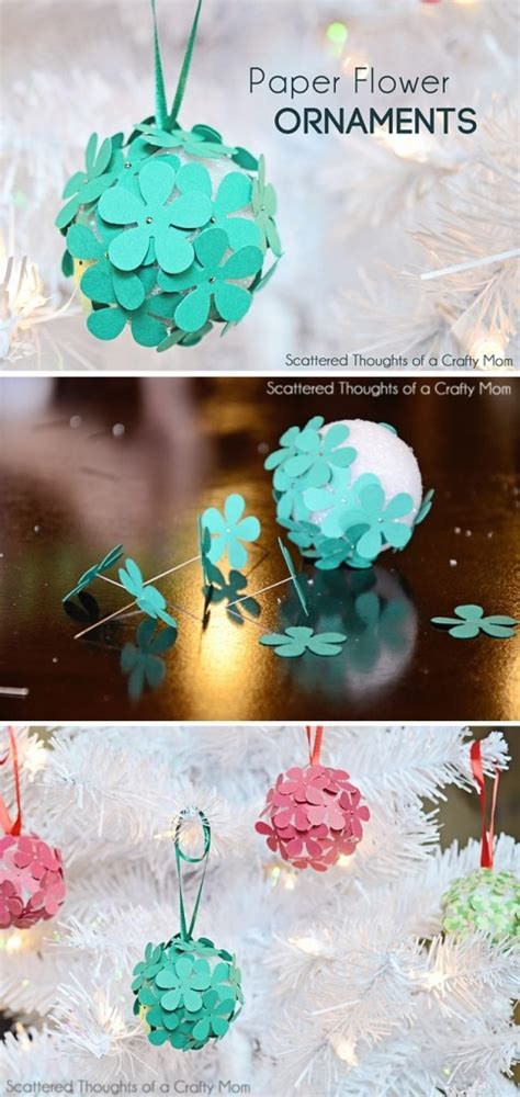 christmas love family crafts paper flower tree ornament craft for scattered thoughts of a crafty by