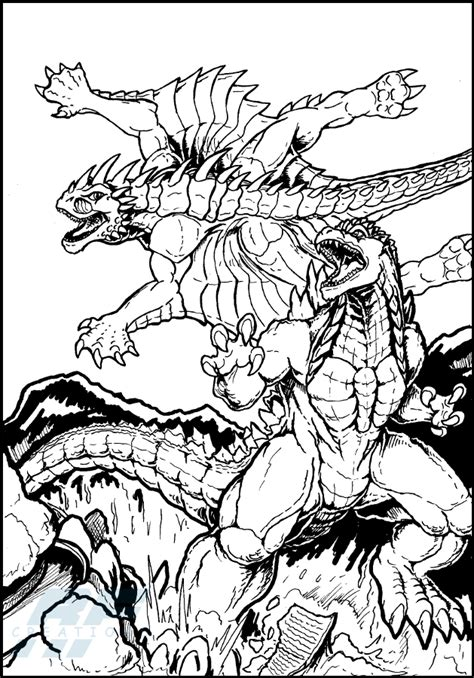 burning godzilla coloring pages godzilla coloring pages bestofcoloring com