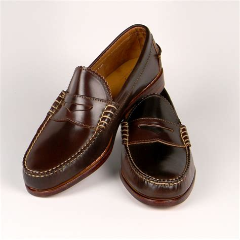 pennie loafers standard issue rancourt co cordovan loafers