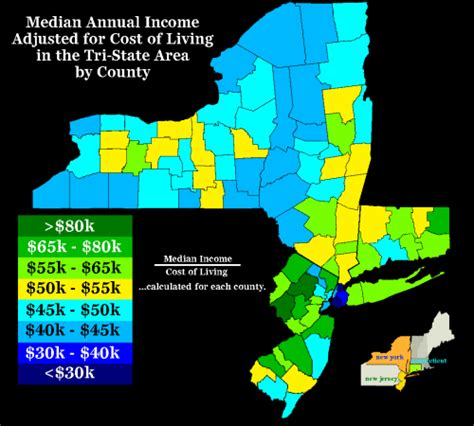 cost of living by state map median annual income adjusted for cost of living maps