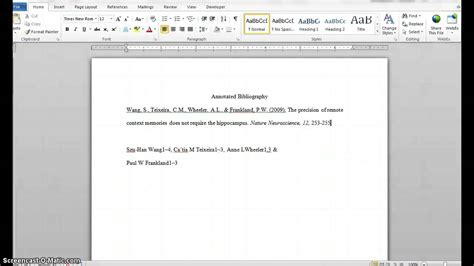 Apa Format 2015 Creating An Apa Format Annotated Bibliography