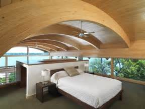 Organic design ideas guest house design with curved wood beams by
