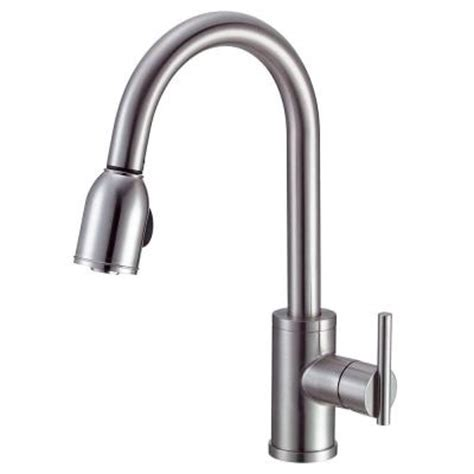 danze single handle kitchen faucet danze parma side mount single handle pull sprayer kitchen faucet in stainless steel