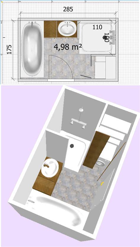 salle de bain de 5m2 avec et baignoire