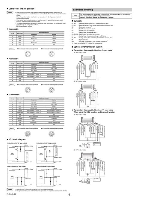 wiring diagrams for light curtains
