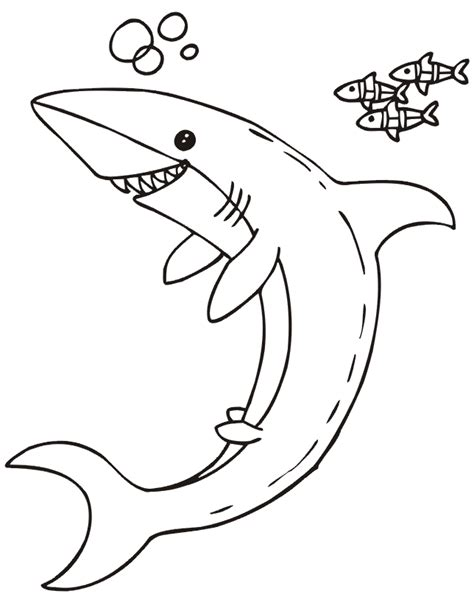 coloring pages of fish and sharks shark coloring page shark little fish