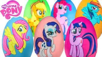 giant pony surprise eggs compilation play doh twilight sparkle fluttershy toys