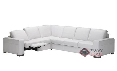 natuzzi reclining sectional sofa corno a397 leather true sectional by natuzzi is fully