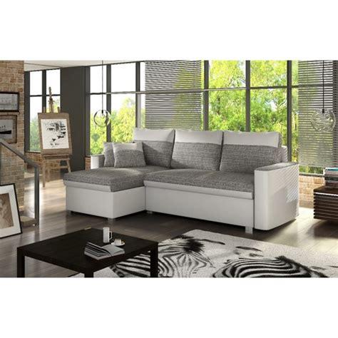 cream corner sofa bed pescara corner sofa bed in cream faux leather and grey