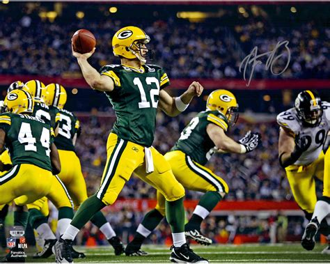 aaron rodgers and the green bay packers then and now the ultimate football coloring activity and stats book for adults and books aaron rodgers green bay packers autographed 16 quot x 20