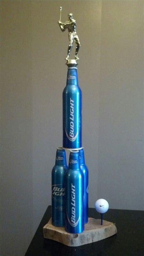 Handmade Trophies - bud light golf trophy budlight ideas