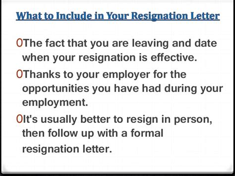 Resignation Letter To Further Education