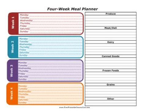 the room diet planner 25 best ideas about monthly menu planner on