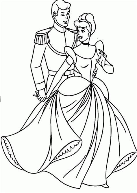Princess Cinderella Coloring Pages - Coloring Home