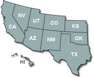 southwest state car rentals in the southwest region of the united states