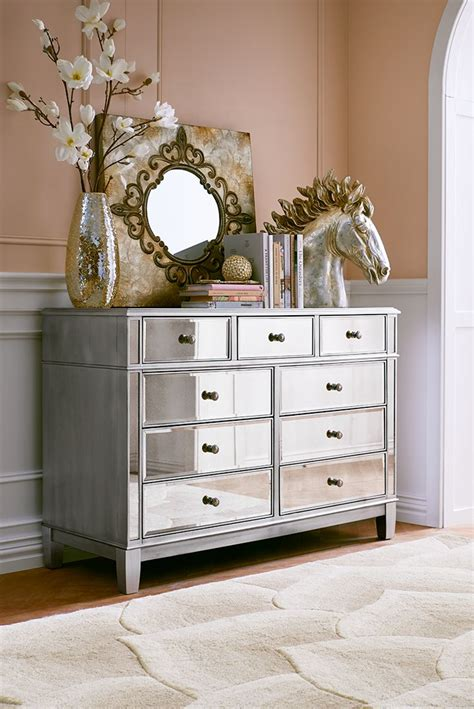 dresser decor ideas hayworth mirrored dresser amazing unique design laminated