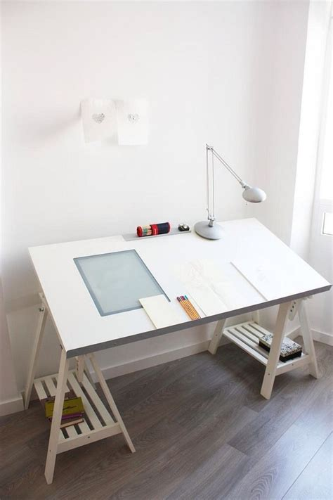 Ikea White Drafting Table With Light Box And Adjustable Drafting Table Legs